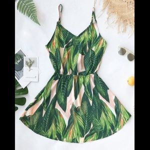 Cupshe Tropical Dream Banana Leaf Print Dress